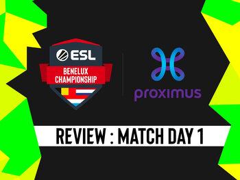 ESL Benelux: LLL en Brugge nemen de overwinning in de 1ste dag